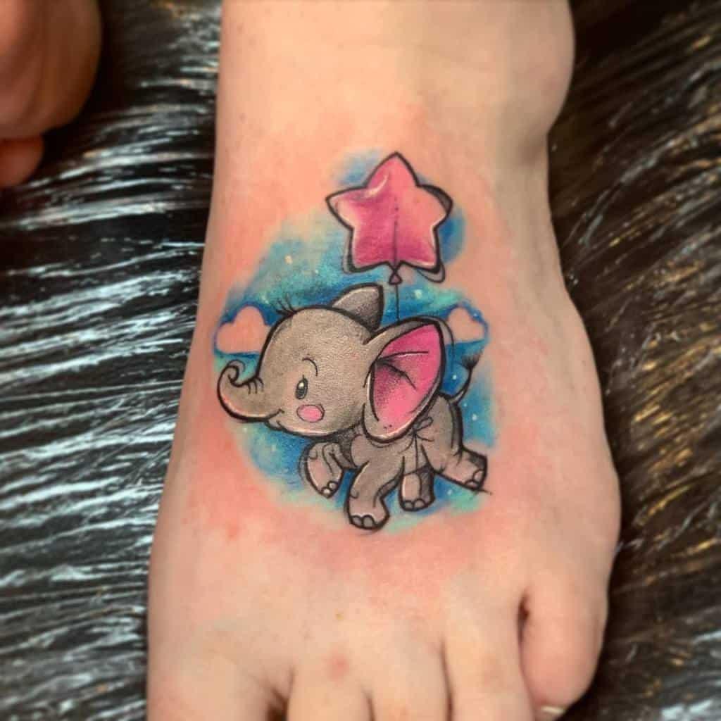 Petits tatouages mignons de Disney bluamaranth