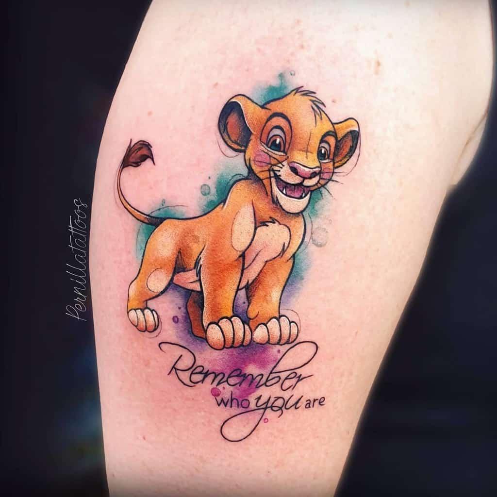 Petits tatouages du roi lion Disney 2 pernillatatouages