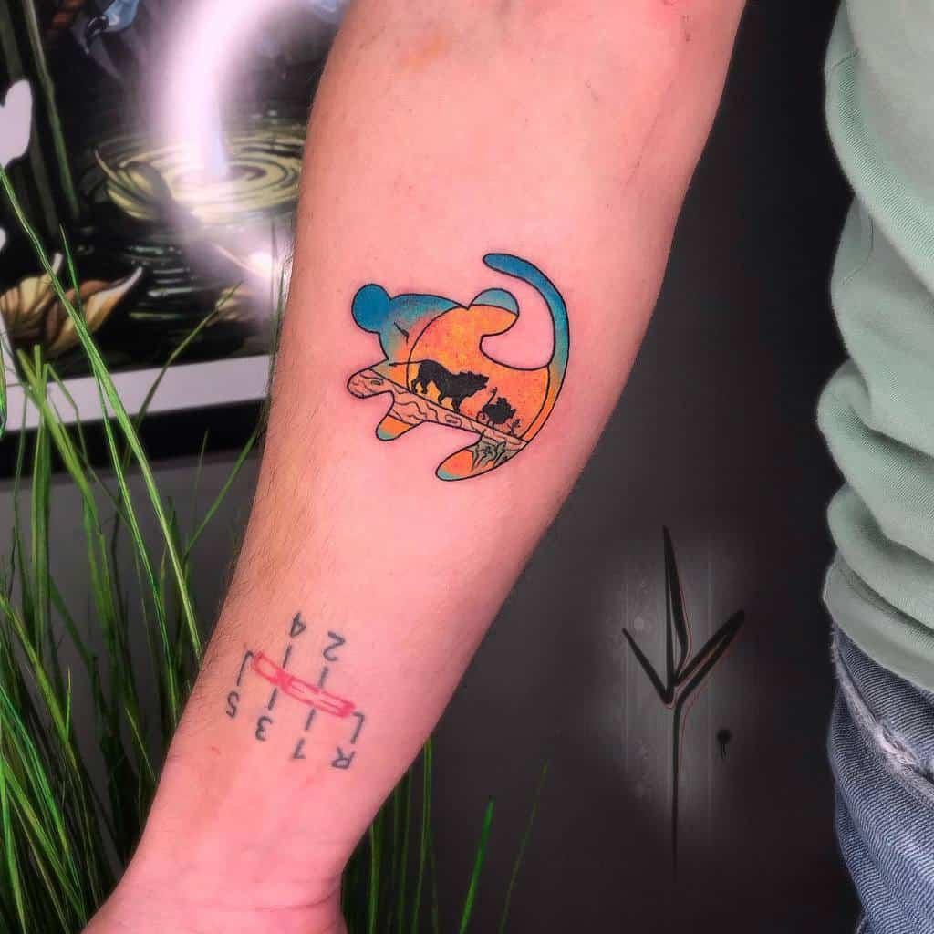 Tatouages du petit roi lion Disney joak.tattoo
