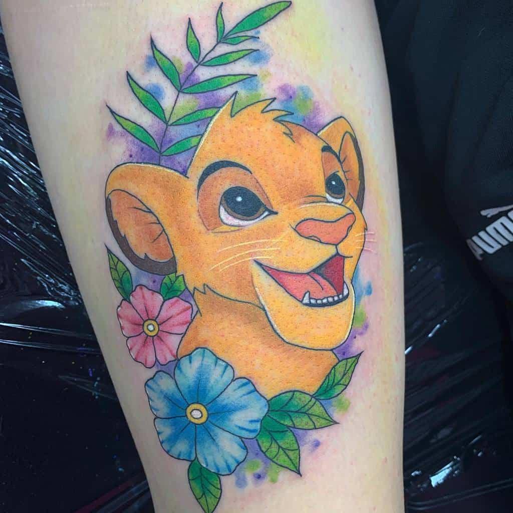 Tatouages du roi lion Disney kitty_ink_kitkat