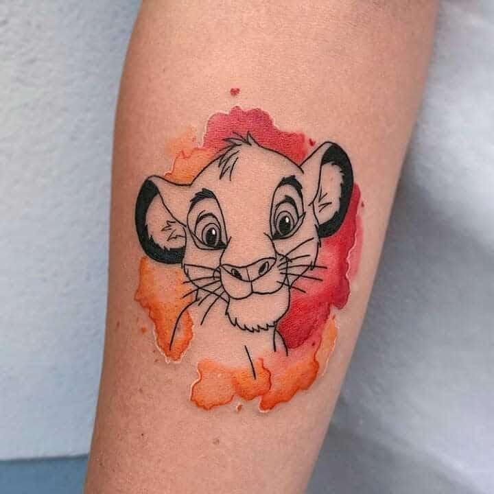 Tatouages du petit roi lion Disney Tatouages du roi lion dans le monde