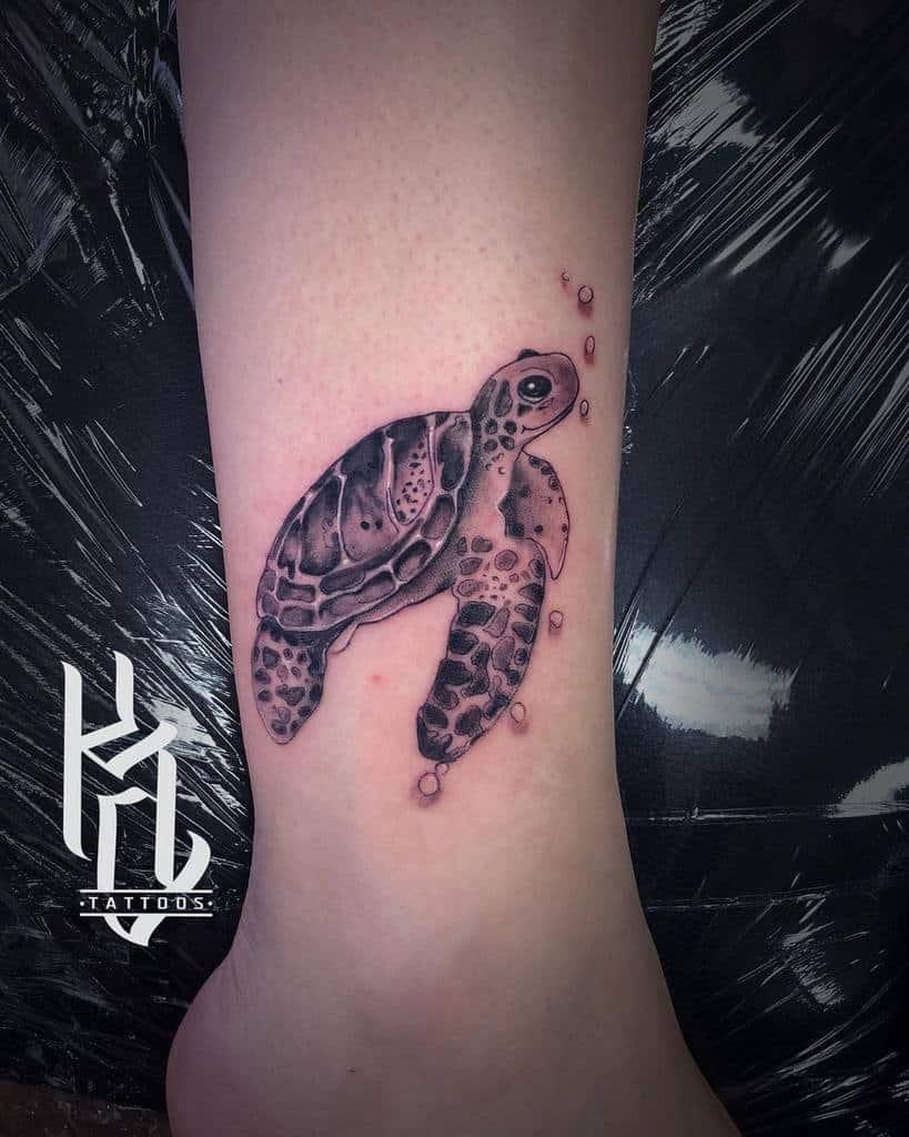 Petits Tatouages de Cheville de Tortue kyle.tattoos