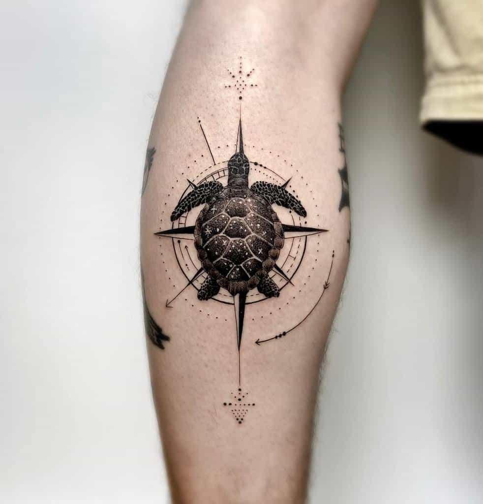 Tatouages d'avant-bras de petites tortues boratattoo