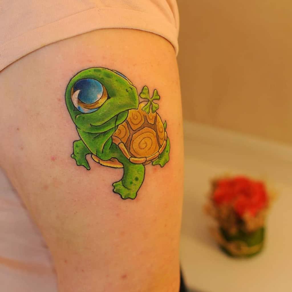 Tatouages de petites tortues colorées oleg_kristallow