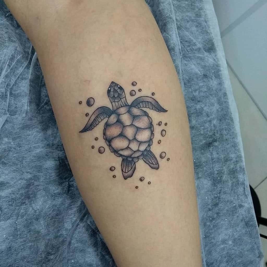 Tatouages d'avant-bras de petites tortues jow13tattoo