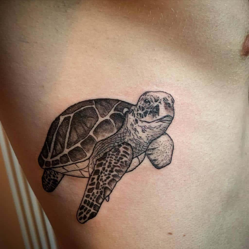 Tatouages de petites tortues noires nats_tats_91