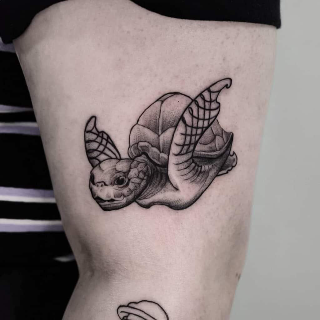Tatouages de petites tortues noires den_haag_tattoo_the_goose