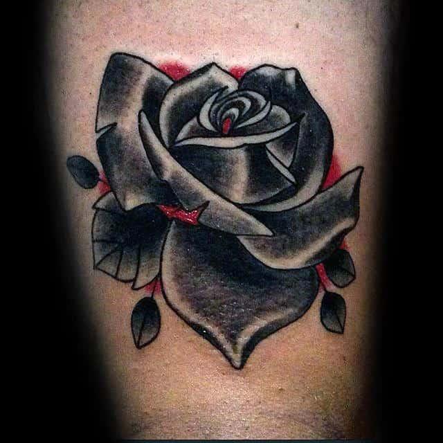 Tatouages de roses simples blackwork