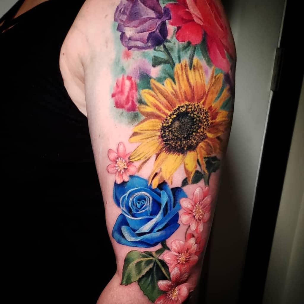 bras bleu rose tatouages killakph