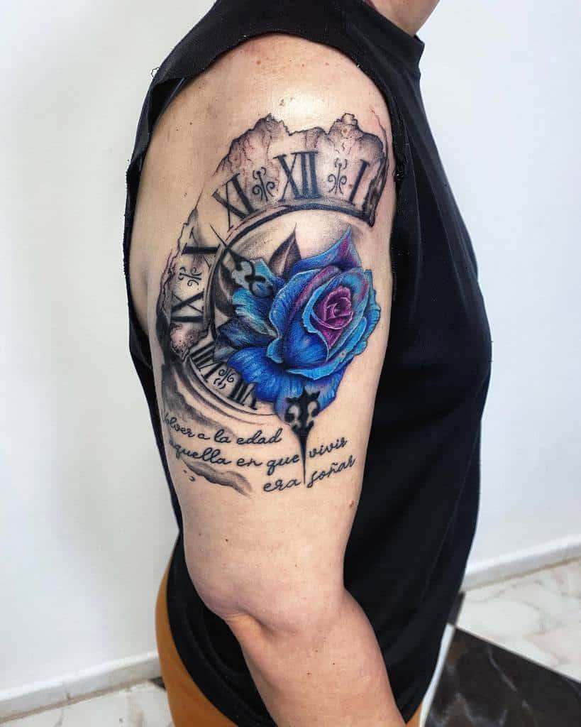 bras bleu rose tatouages astrolabium_tattoo