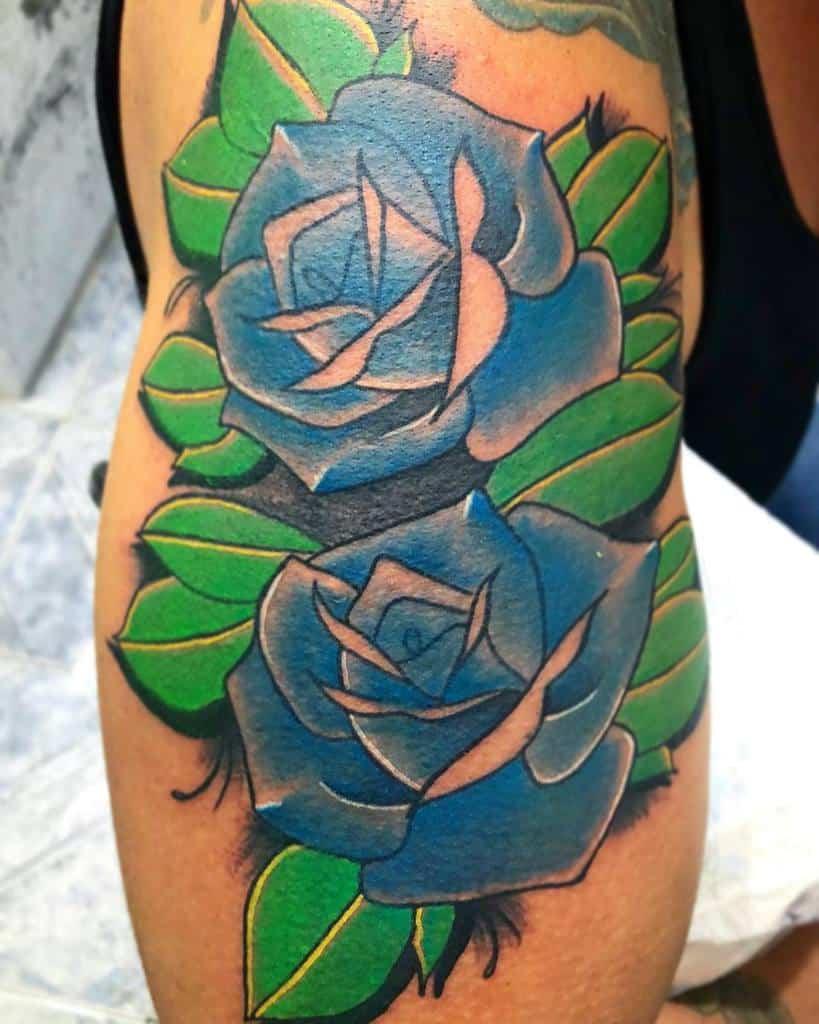 bras bleu rose tatouages marujo.tattooist