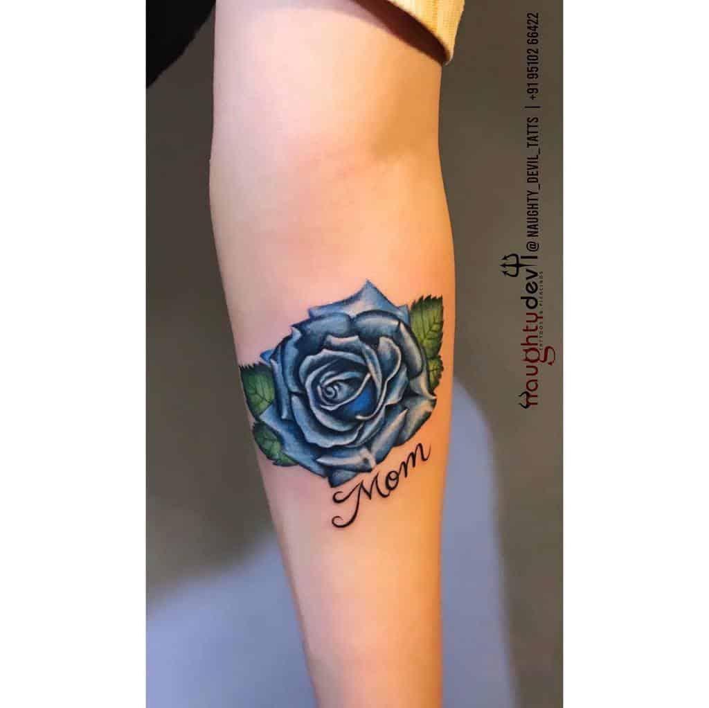 tatouages avant-bras rose bleue naughty_devil_tattoo