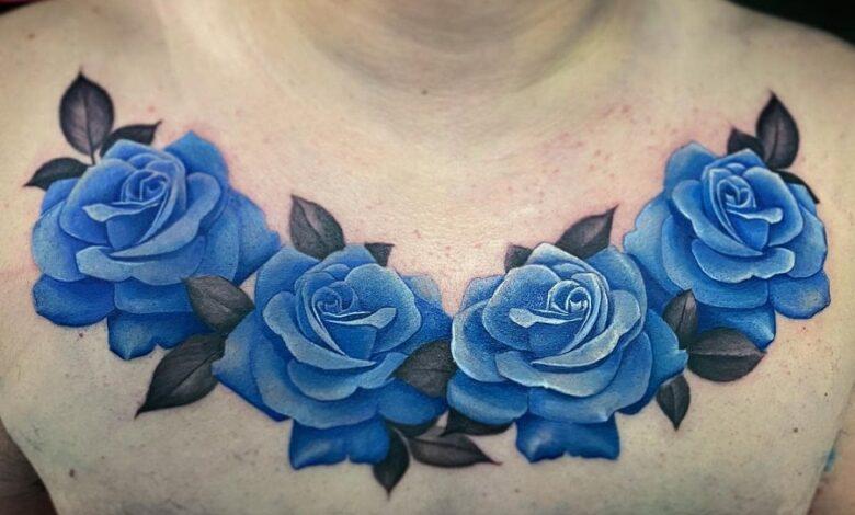 Top 81 Best Blue Rose Tattoo Ideas – [2020 Inspiration Guide]