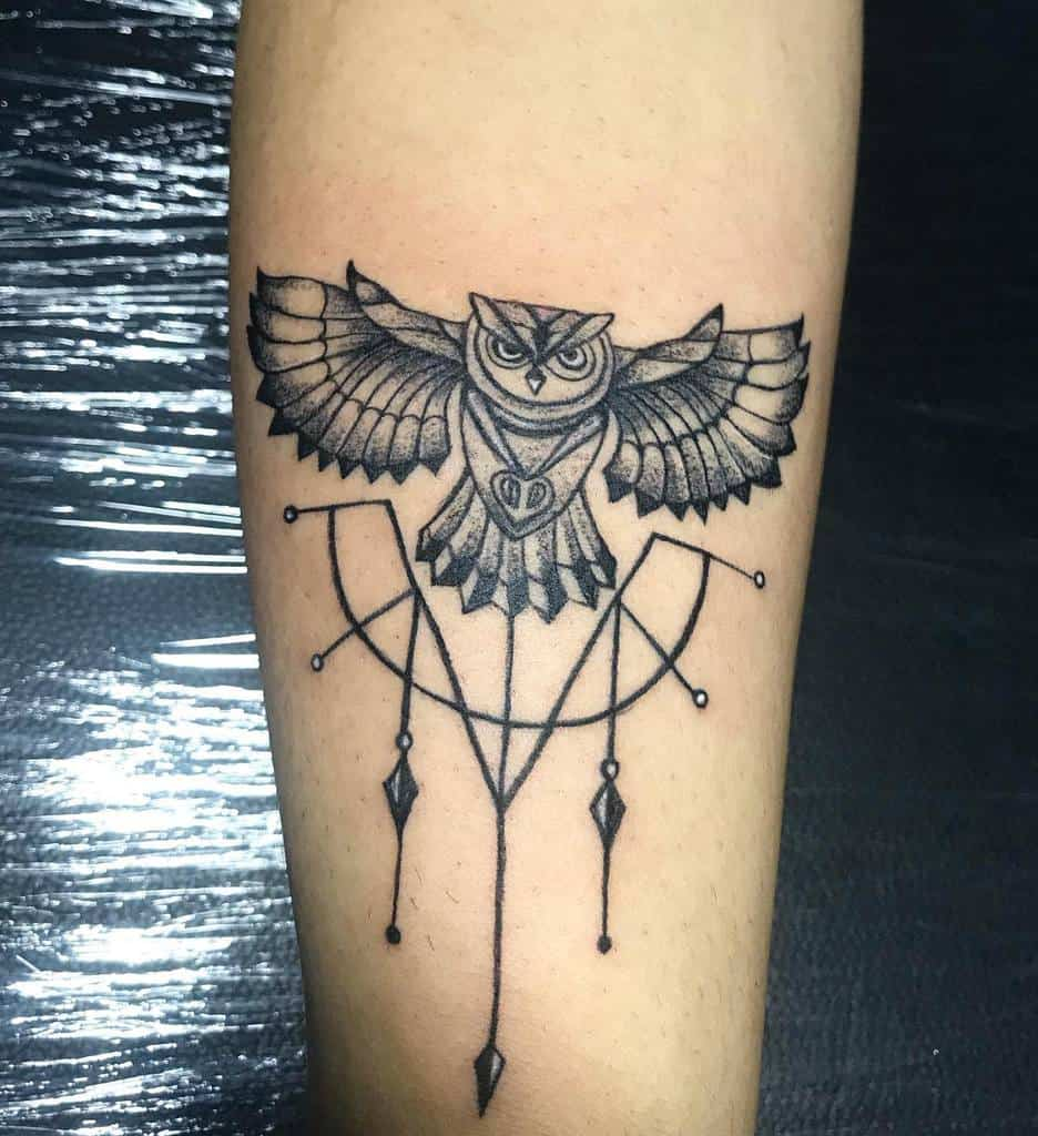 Tatouages d'avant-bras de petits hiboux pirates_tattooz