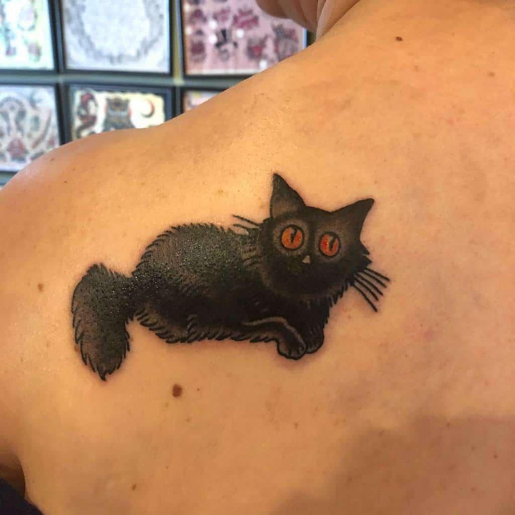 Tatouages de petits chats noirs teddie_upchucks