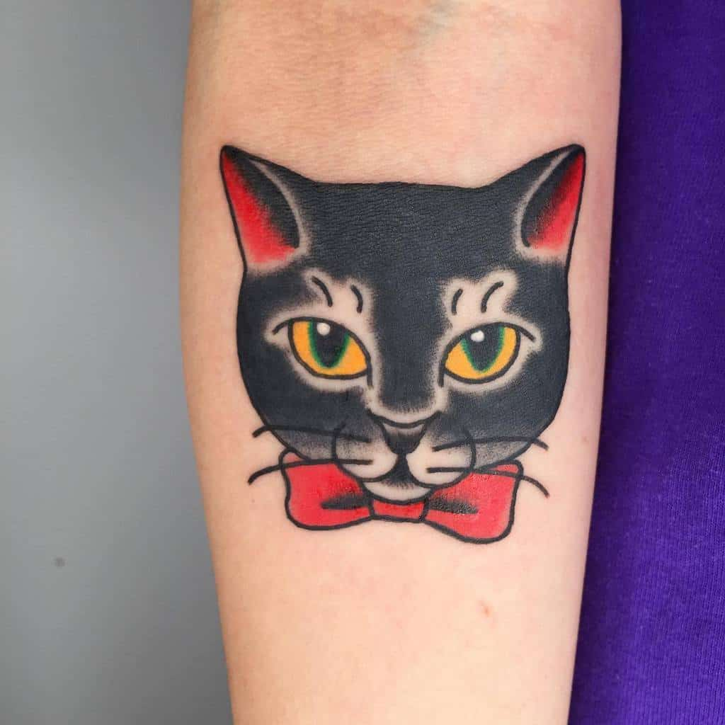 Tatouages d'avant-bras de petits chats aiji.wow