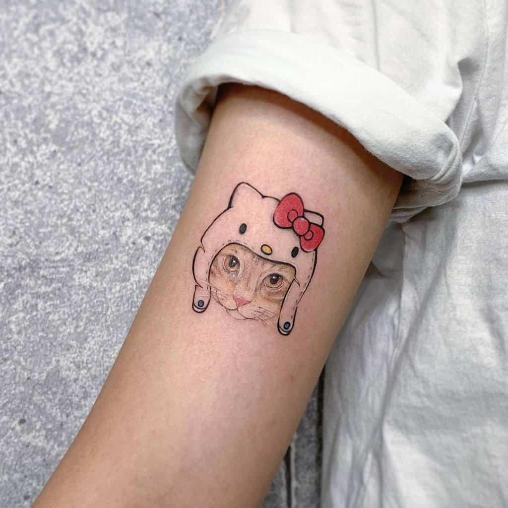 Tatouages de petits chats colorés ttoa225