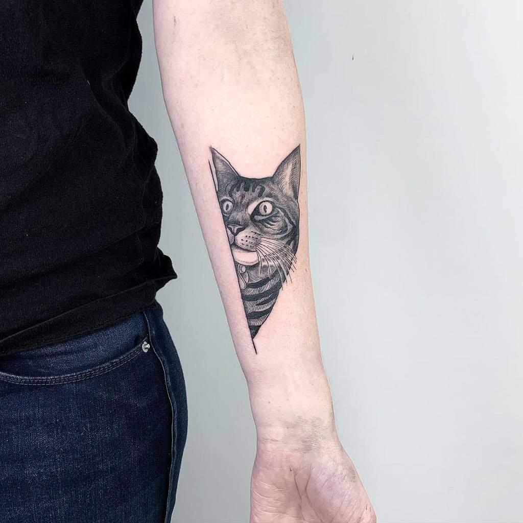 Tatouages d'avant-bras de petits chats stevie_doan