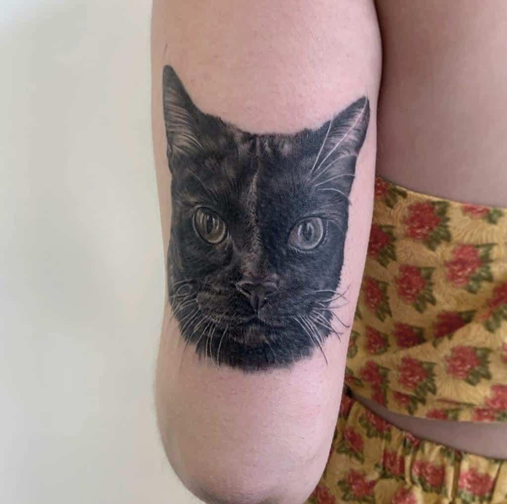 Tatouages réalistes de petits chats jordanlentz