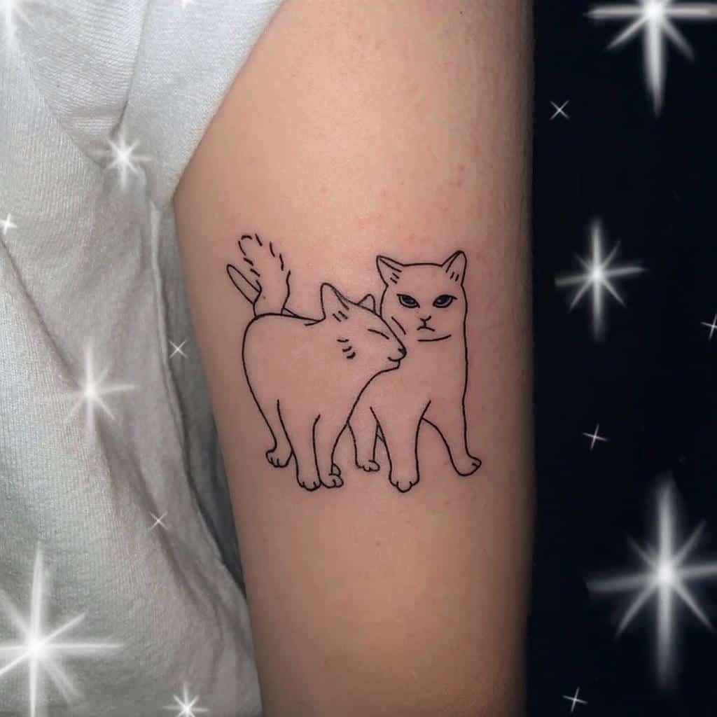 Petit chat Tatouages simples 2 tattoo_toon