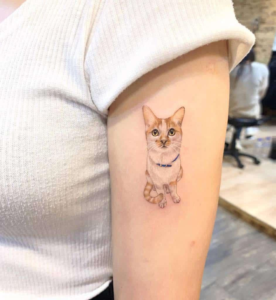 Tatouages de petits chats à bras supérieur meilu_928