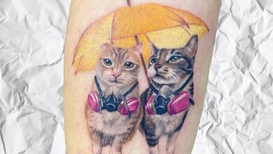 Photo de Top 71 des meilleures idées de tatouage de petits chats