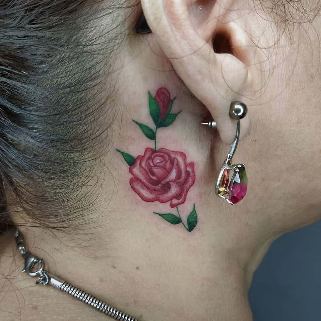 petits tatouages minimalistes en col de rose vitor.sx7