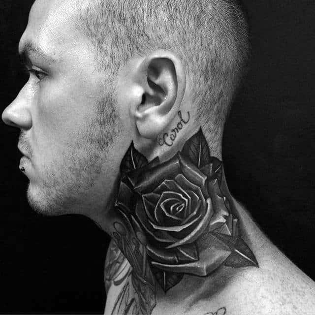 nextluxury ombragé 1 tatouage en col de rose