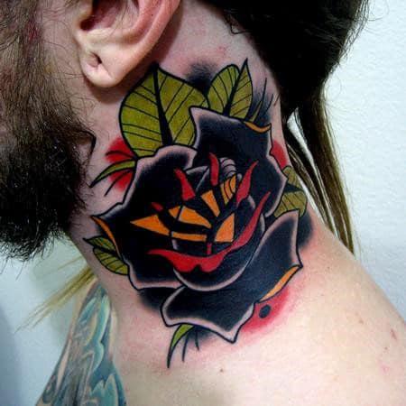nextluxury blackwork 1 tatouages en col de rose