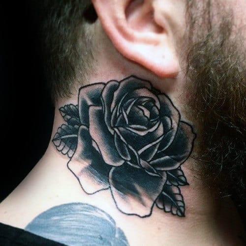 nextluxury blackwork 3 tatouages en col de rose