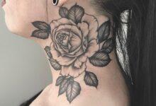 Top 71 Best Rose Neck Tattoo Ideas – [2020 Inspiration Guide]