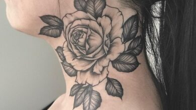 Top 71 Best Rose Neck Tattoo Ideas – [2020 Inspiration Guide]