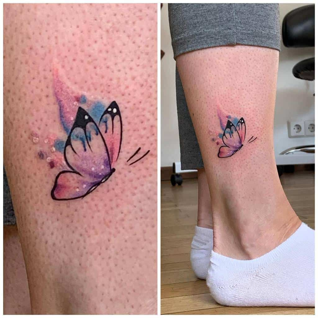 Tatouages de petits papillons colorés Simone.sollai Missk.tattoo
