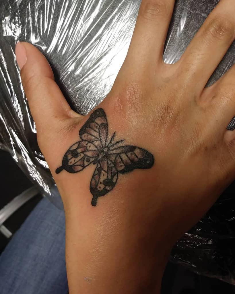 Tatouages des doigts de la main du petit papillon Arivera.tbp