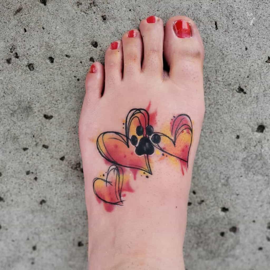 Petits tatouages significatifs de pieds de cheville Bri 55555