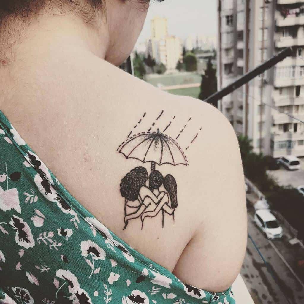 Petits tatouages d'épaules significatifs Neiti Inky