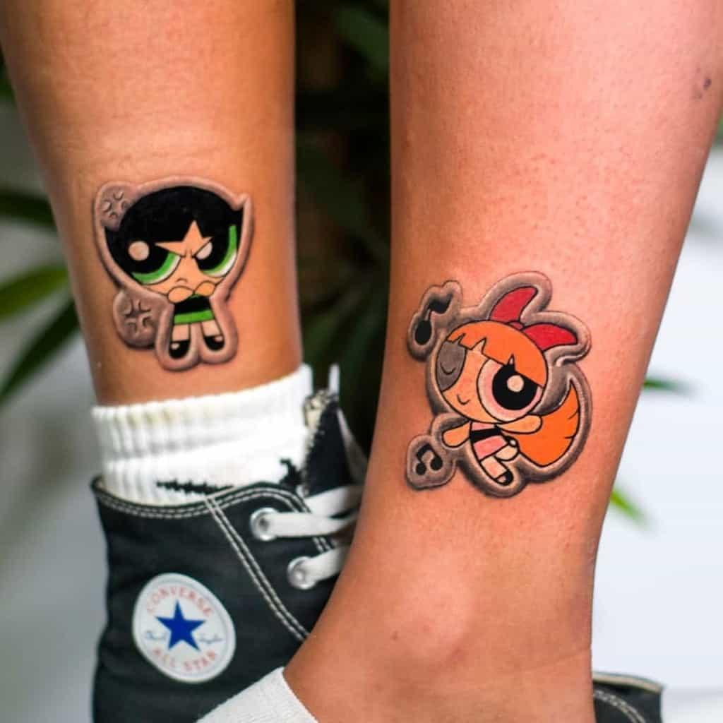 Mignons petits tatouages d'animés Amirmeir1