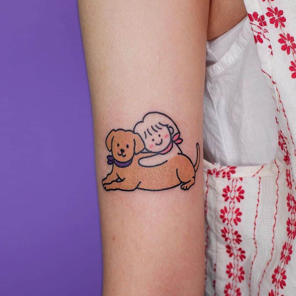 Mignons petits tatouages colorés Tatouage Xinamon