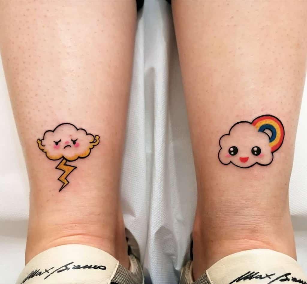 Mignons petits tatouages de pieds de cheville Tatouage du Leti