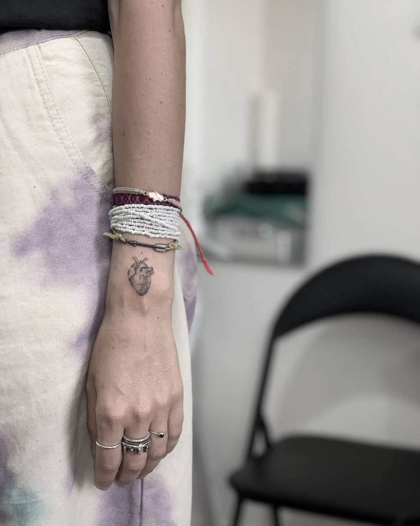 Tatouages de petits bras cardiaques Michele Disogra
