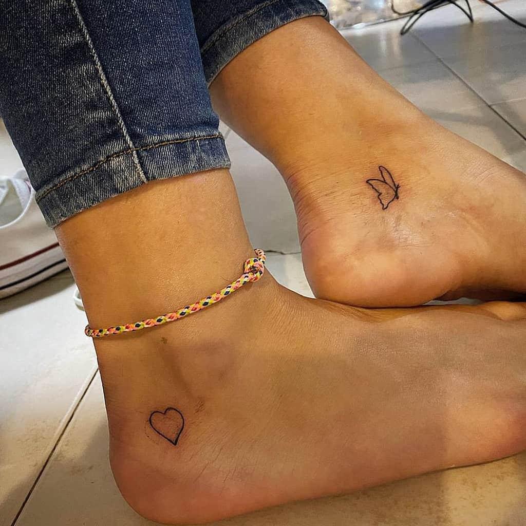 Tatouages du petit coeur noir Missl.y.n