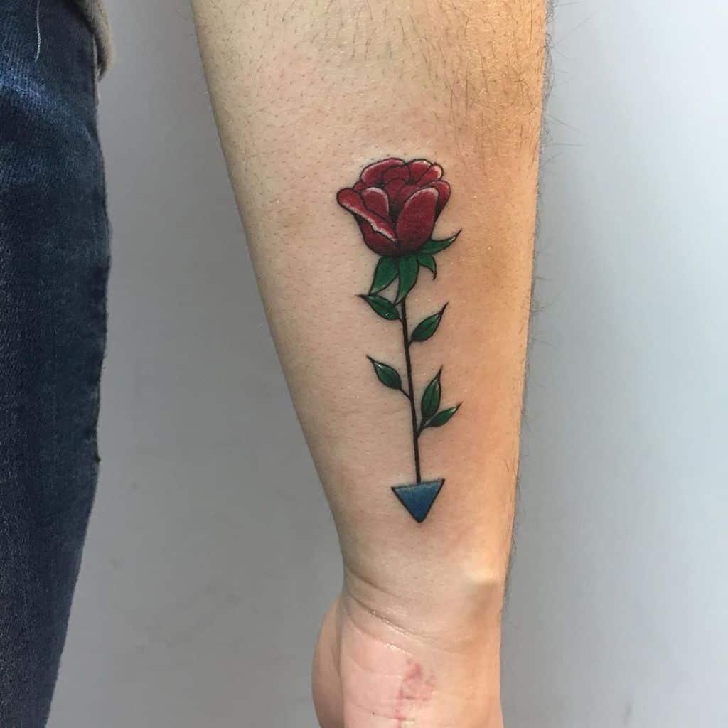 Tatouages de poignet en petites roses Conejomaloink