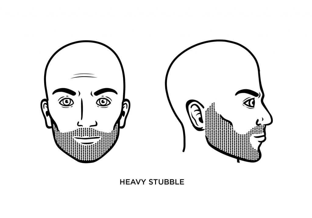 homme chauve avec une lourde barbe