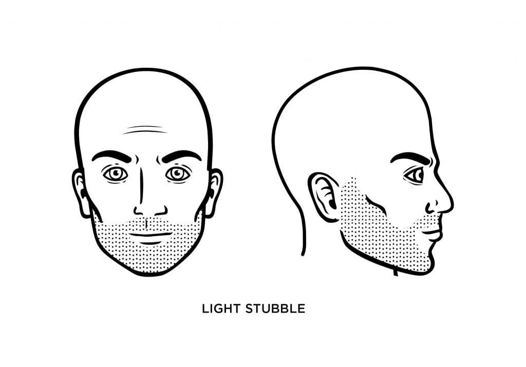 homme chauve avec une légère barbe