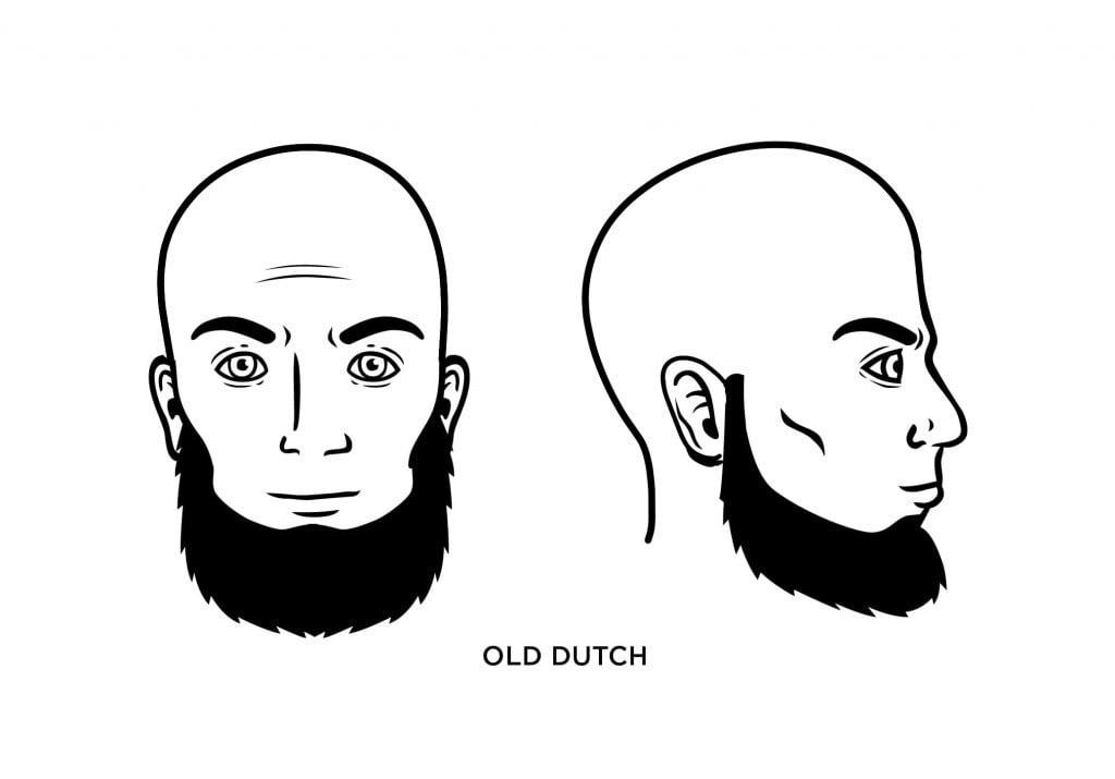 homme chauve avec une barbe de vieux hollandais