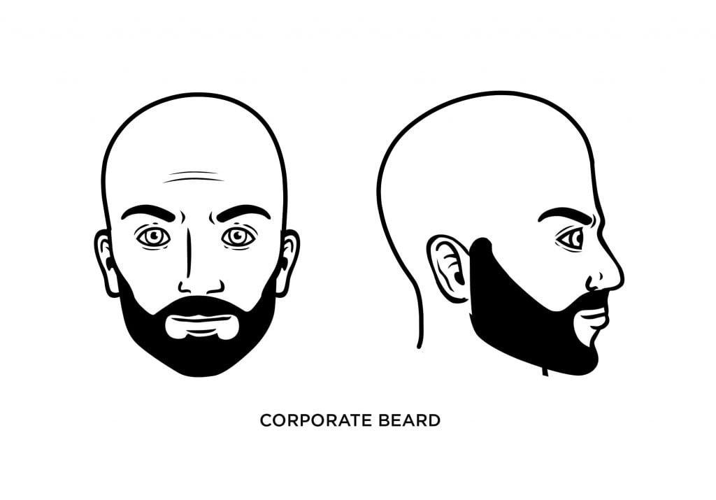 Un homme chauve avec une barbe d'entreprise