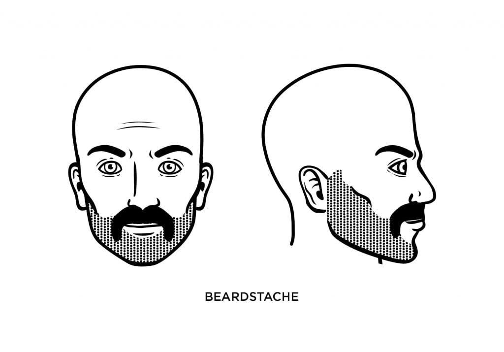 homme chauve à barbe