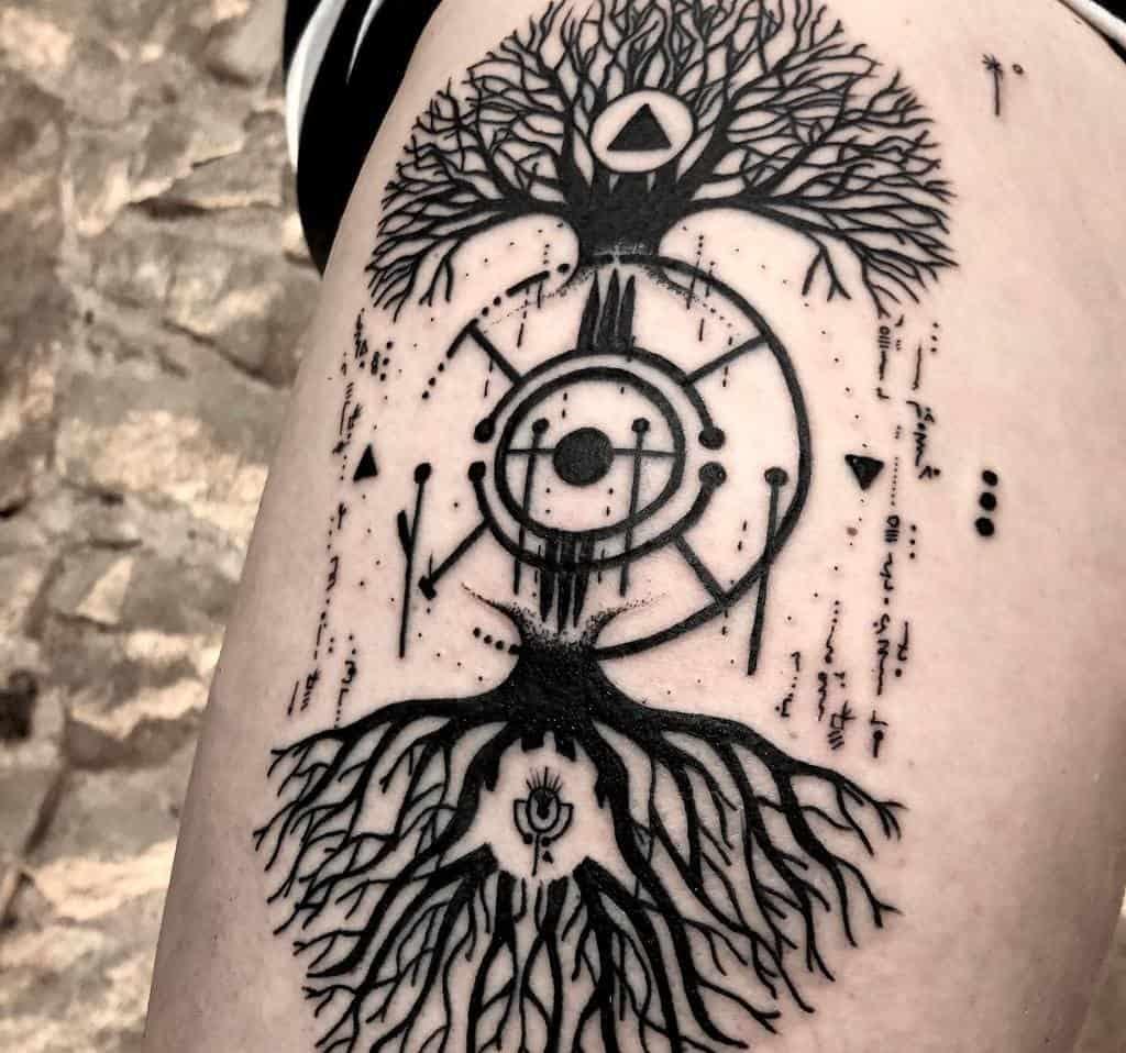 L'arbre en haut, donc en bas Tattoos Astralisproject