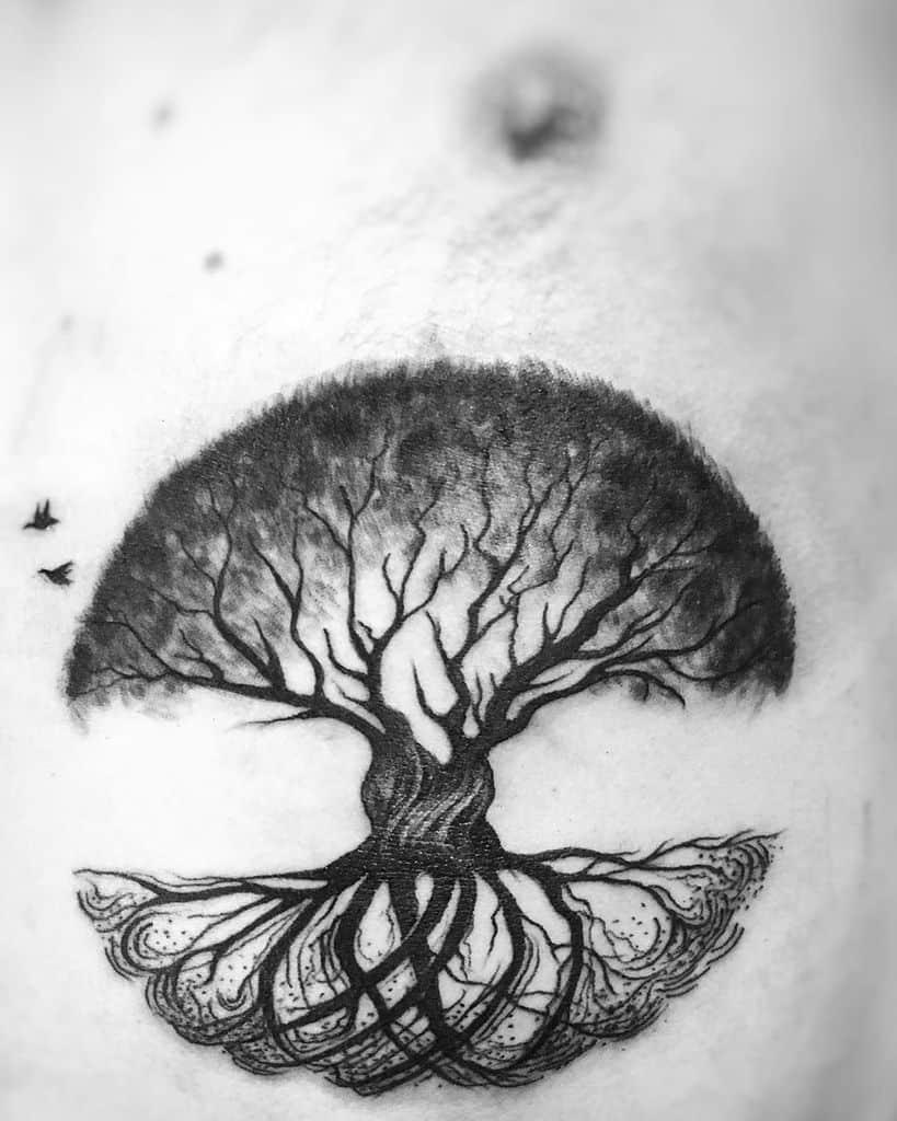 Blackwork As Above So Below Tattoos Florina.malael