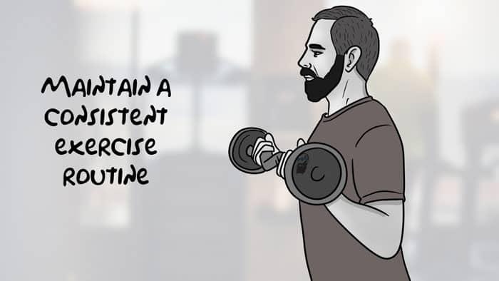 maintenir un programme d'exercice régulier pour se laisser pousser la barbe